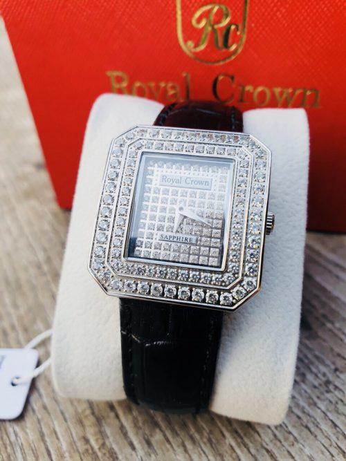 Đồng hồ nữ Royal Crown 3619 dây da đen