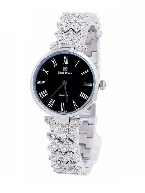 Đồng hồ nữ chính hãng Royal Crown 2610 sliver black