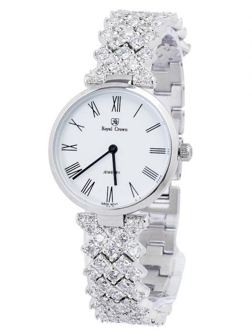 Đồng hồ nữ Royal Crown 2610 sliver white