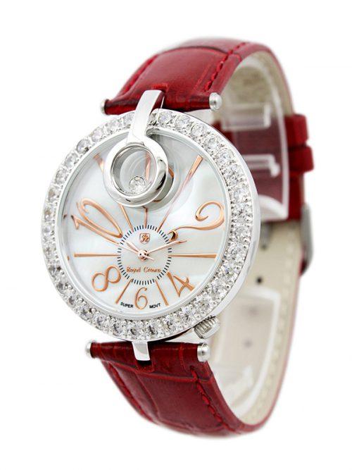 Đồng hồ Royal Crown 3850 dây da đỏ